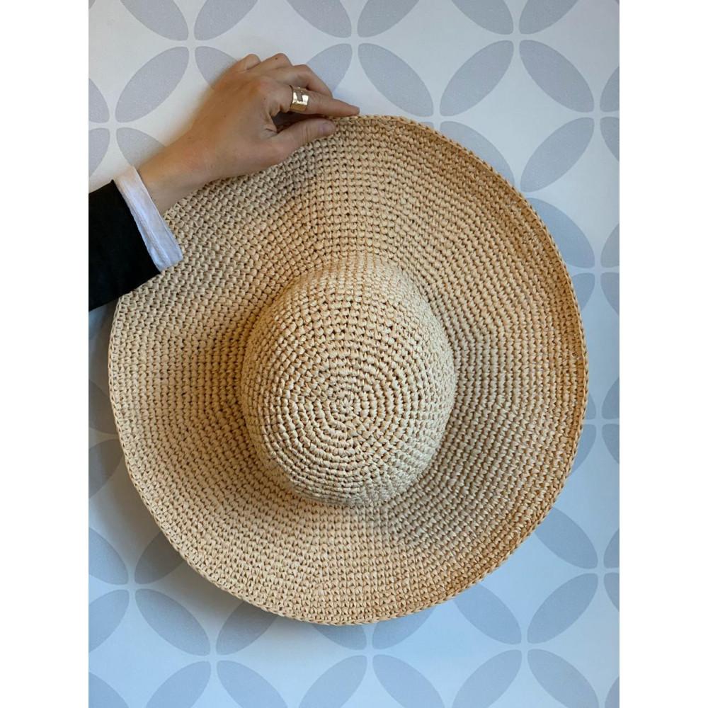 Описание соломенной шляпы из рафии