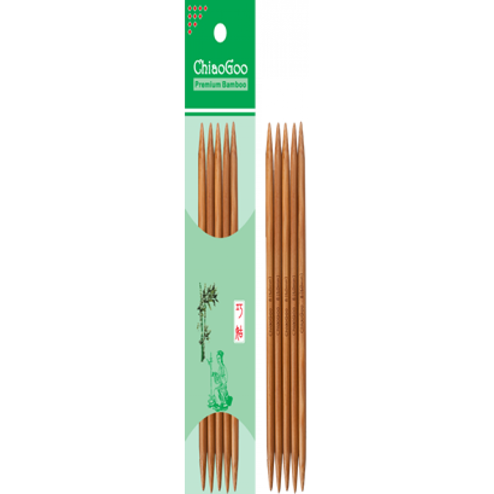 Спицы ChiaoGoo чулочные 20см/4мм (бамбуковые)
