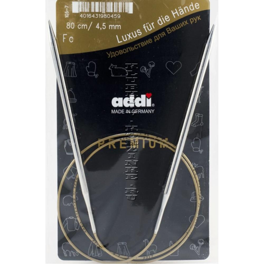 Неразъемные круговые спицы Addi premium на леске 80 см. N2