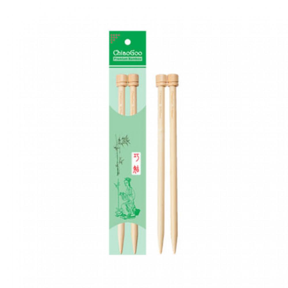 Спицы ChiaoGoo 23см/10мм (прямые бамбуковые)